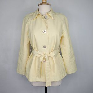 Evan-Picone Yellow Belted Spring Summer Jacket, MP